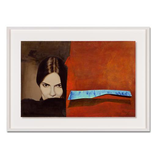 Jaro – Schatten der Verführung - Jaro editiert erstmals sein Lieblingswerk.  Das Signet des Künstlers geprägt und handschraffiert. Niedrig limitiert – in zwei Grössen erhältlich. Masse: gerahmt 100 x 73 cm