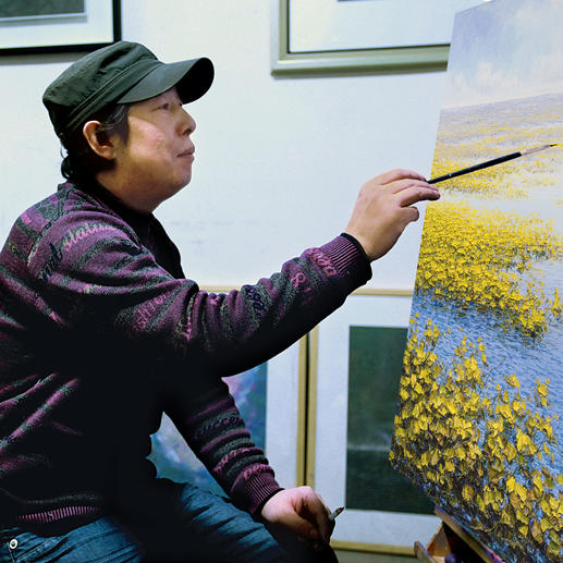 Pei Lian Zhi in seinem Atelier.