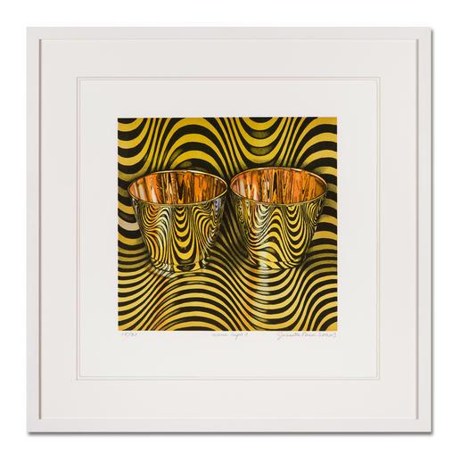 """wave cups II"", gerahmt 63 x 63 cm."