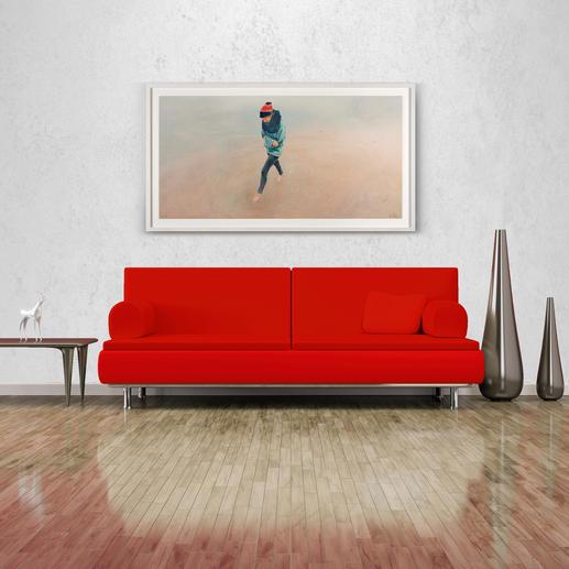 Mit 176 x 97 cm eine ideale Grösse über Sideboards und Sofas.
