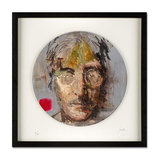 "Oliver Jordan – John Lennon - Oliver Jordans Schallplatten-Edition ""John Lennon"". Handübermalt – jedes der 60 Exemplare ein Unikat."