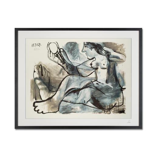 """Pablo Picasso: """"Akt im Spiegel"""" (1967) - Pablo Picasso """"Akt im Spiegel"""" (1967) als High-End Prints™. Endlich eine Qualität, die dem grossen Meisterwerk tatsächlich gerecht wird."""