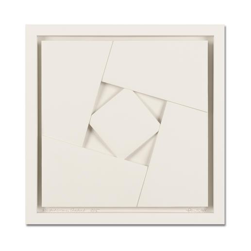 """Peter Weber: """"Eingeschlossenes Quadrat"""" - Einzigartige Faltkunst: Aus einem Stück von Hand gefertigt. Peter Webers geheimnisvolle Werke. Erste Unikatserie von 15 Exemplaren – exklusiv bei Pro-Idee."""