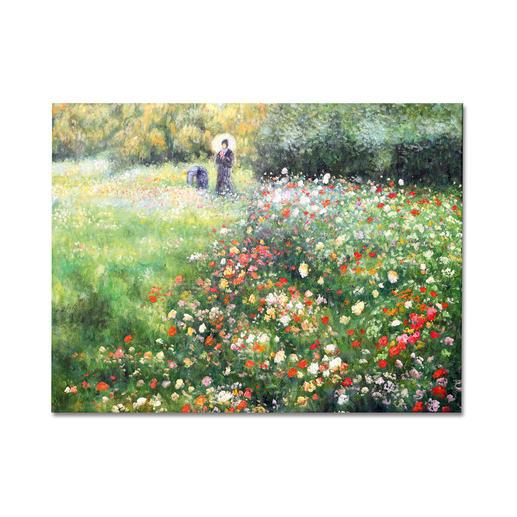 """Zhong Lirong malt Renoir: """"Frau mit Sonnenschirm"""" - Renoirs """"Frau mit Sonnenschirm"""": Die perfekte Kunstkopie – 100 % von Hand in Öl gemalt."""