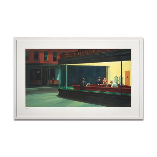 """Edward Hopper – Nighthawks (1941) - Edward Hopper """"Nighthawks"""" (1941) als High-End Prints™. Endlich eine Qualität, die dem grossen Meisterwerk tatsächlich gerecht wird."""