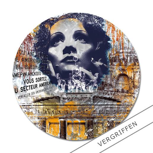 """Timeless – Marlene Dietrich"", Ø 120 cm."