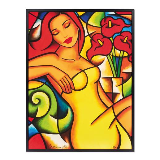 """Ekaterina Moré: """"Red Callas Dream"""" - Ekaterina Morés unverkäufliches neuestes Werk. Edition von 30 Exemplaren. Jedes Werk von Hand geprägt."""
