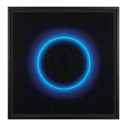 """Fabrizius²: """"Ohne Titel – Kreis Weiss in Blau"""" - Die vierhändige Kunstsensation.  Erste Edition der Zwillingsschwestern Fabrizius. 35 Exemplare."""