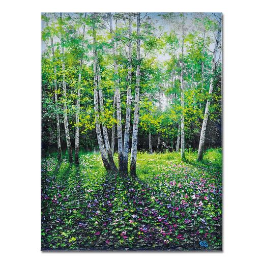 Pei Lian Zhi – Day in Spring - Pei Lian Zhi: In mehr als 200 Sammlungen vertreten. Jetzt auch in Ihrer? Edition – von Hand gefirnisst. 40 Exemplare. Masse: 90 x 120 cm