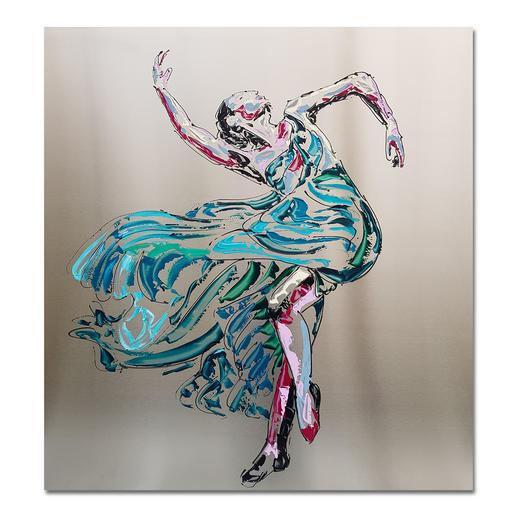 Paul La Poutré – Anastasia - Paul La Poutré: Zweite Unikatserie – 100 % von Hand auf Edelstahl gemalt. (Die erste war nach wenigen Tagen ausverkauft.). 12 Exemplare. Exklusiv bei Pro-Idee. Masse: 100 x 100 cm