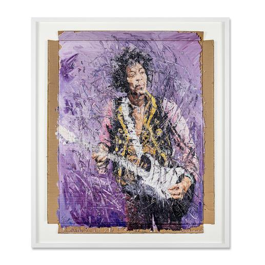 Oliver Jordan – Jimi Hendrix - Oliver Jordans zweite Jimi-Hendrix-Auflage (die erste war nach kurzer Zeit ausverkauft). Exklusive Pro-Idee-Edition auf Kartonage. 20 Exemplare.