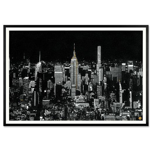 Tim Bengel – New York Skyline Tim Bengel: Seine einzigartigen Originale aus Sand und Gold erobern die Kunstwelt. Erste Edition. Von Hand veredelt. 25 Exemplare.
