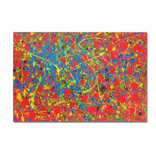 Mikail Akar – Rote Punkte Erst 7 Jahre alt – schon 4-stellige Verkaufspreise. Editionsdebüt von Deutschlands jüngstem Abstraktkünstler Mikail Akar. Masse: 120 x 80 cm