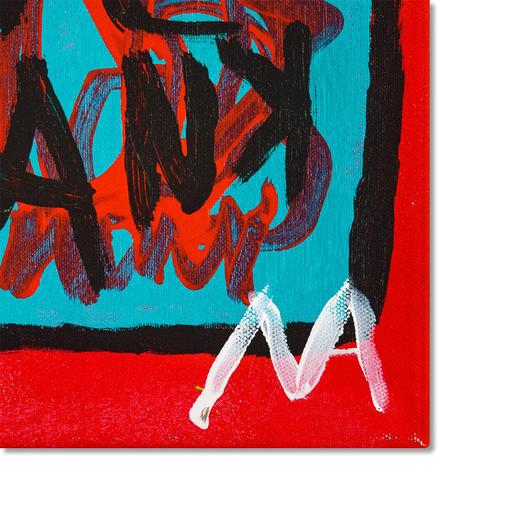Die Signatur des Künstlers
