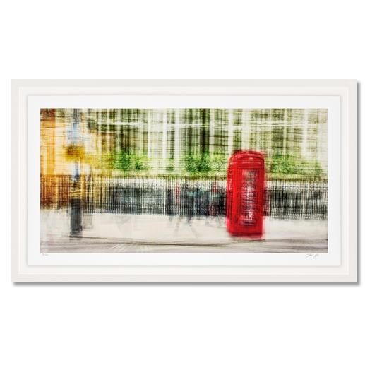 """Jacob Gils – London #28 Impressionistisches Gemälde? Oder modernste Fotografie? Jacob Gils' Edition """"London #28"""" aus über 100 Einzelaufnahmen. Exklusiv bei Pro-Idee. 20 Exemplare. Masse: gerahmt 132 x 78 cm"""
