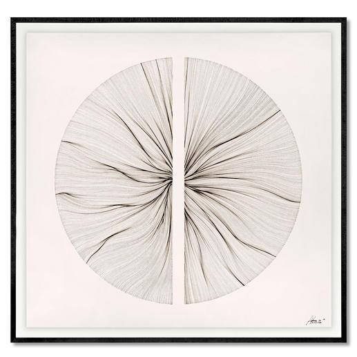 John Franzen – Each Line One Breath Jede Linie ein Atemzug. John Franzens erste Edition in Europa. Masse: gerahmt 100 x 97 cm