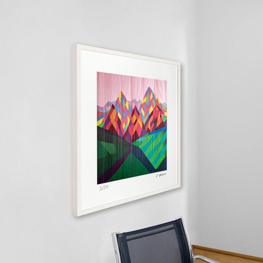 """""""Alexa, verdopple mein Vermögen"""": Die Technik von Antonio Marra lässt das Werk aus jeder Perspektive anders erscheinen."""