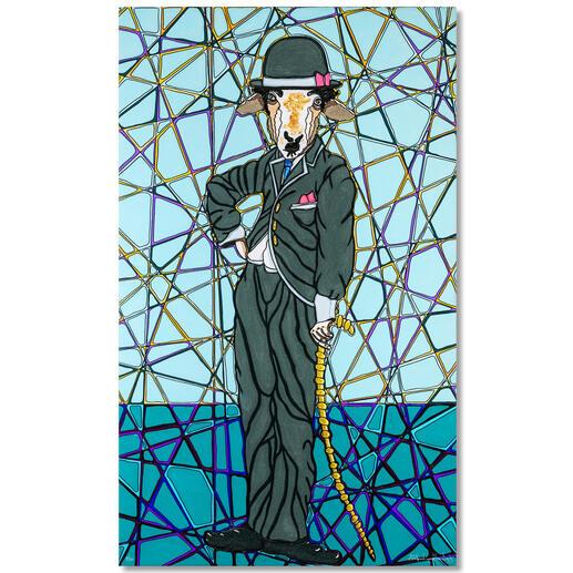 Adam Karamanlis – Chaplin Adam Karamanlis´ Werke bei Christie´s in Düsseldorf. Und nun bei Ihnen zu Hause. Handübermalte Edition. 30 Exemplare. Masse: 60 x 100 cm