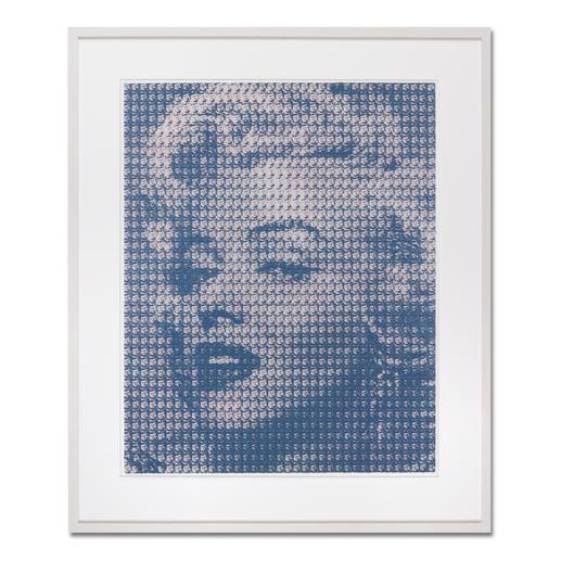 """Kim Dong-Yoo: """"Marilyn"""" - Für das Original-Gemälde zu dieser Grafik wurden 1.369 Kennedy-Portraits einzeln mit Ölfarbe auf Leinwand gemalt."""