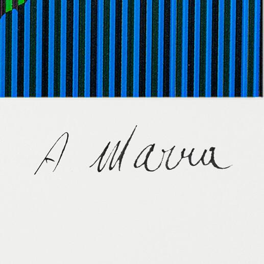 Unterschrift des Künstlers