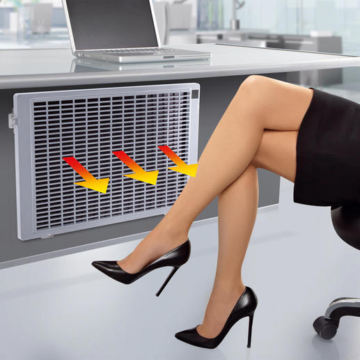 Infrarot-Flachheizung - Nie mehr kalte Füsse: am Schreibtisch, im Hobbyraum, beim Lesen, Fernsehen, ...