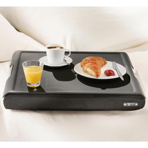 Zuhause ist das Knietablett zudem perfekt als Teetischchen und fürs Frühstück im Bett.