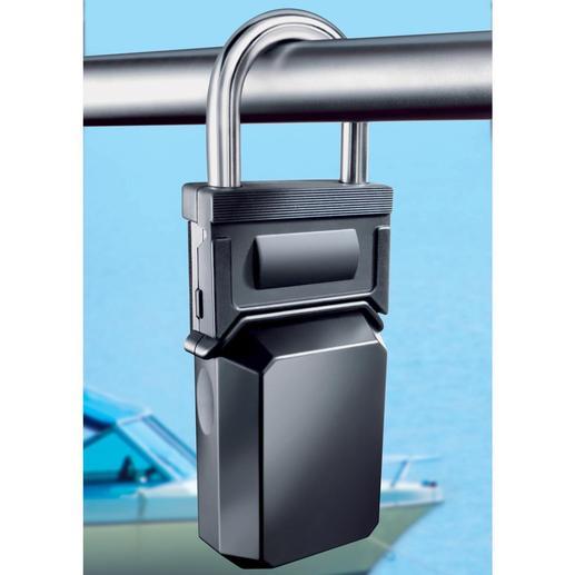 """Dieses """"Vorhängeschloss"""" gibt sein Geheimnis nicht so leicht preis: In seinem Inneren sind bis zu 5 Schlüssel vor Dieben geschützt."""