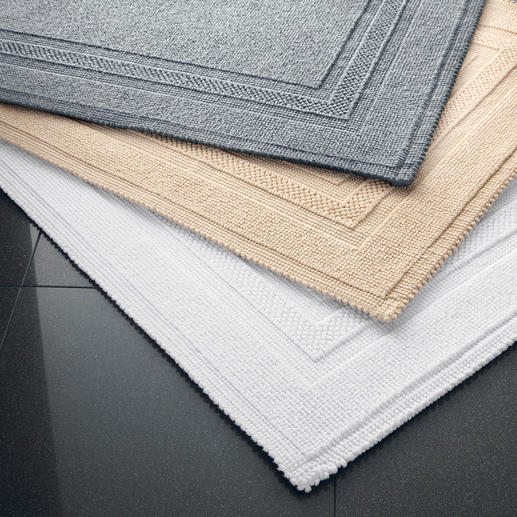 Passend zu jeder Bad-Einrichtung: Den Fusselfreien Badvorleger gibt es in 3 aktuellen Farben.