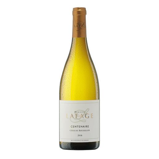 "Centenaire Blanc 2014, Domaine Lafage, Languedoc-Roussillon, Frankreich - ""Zählt zu den besten Weissweinen der Welt. 93 Punkte"" (Robert Parker über den Jahrgang 2013, www.robertparker.com 212, 04/2014)"