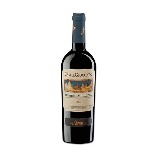 Brunello Giocondo 2010, Marchesi de Frescobaldi, Toskana, Italien - 98 Punkte im Wine Spectator. 98 Punkte von Robert Parker. 97 Punkte von James Suckling. (www.winespectator.com, www.robertparker.com,  www.jamessuckling.com)
