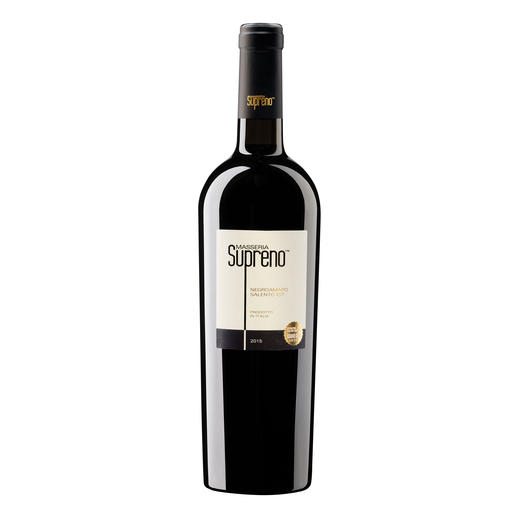 Negroamaro Supreno 2015, Alma the Soul of Italian Wine, Salento, Apulien, Italien Der klare Preis-Genusssieger. Unter 2.500 (!) Konkurrenten.  (International Bulk Wine Competition 2015)