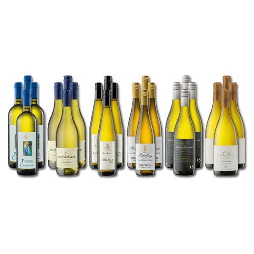 """Weinsammlung """"Die kleine Weisswein-Sammlung Frühjahr 2017"""", 24 Flaschen - Wenn Sie einen kleinen, gut gewählten Weinvorrat anlegen möchten, ist dies jetzt besonders leicht."""