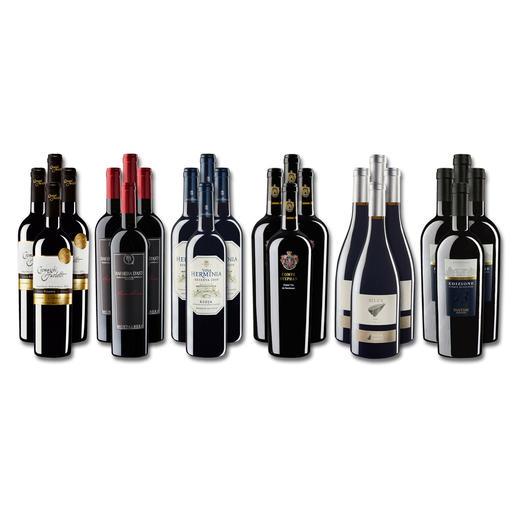 """Weinsammlung """"Die kleine Rotwein-Sammlung für anspruchsvolle Geniesser Frühjahr 2017"""", 24 Flaschen - Wenn Sie einen kleinen, gut gewählten Weinvorrat anlegen möchten, ist dies jetzt besonders leicht."""