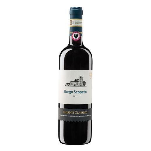 """Chianti Classico Borgo Scopeto 2011, Toskana, Italien - Der Sieger unserer Wine Competition """"Toskana bis 22 Franken, September 2016"""" (Von 24 verkosteten Weinen unter 22 Franken aus der Toskana)"""