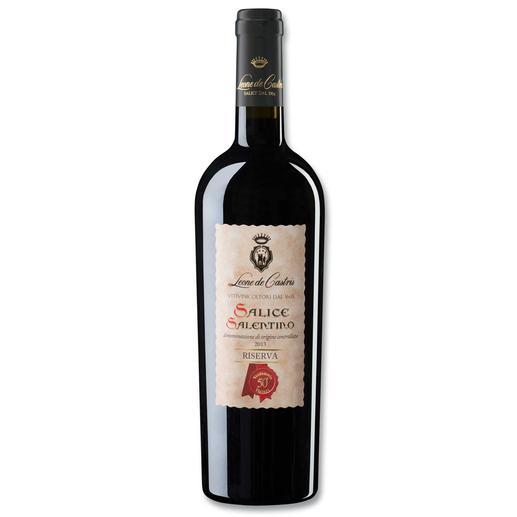 Riserva Castris 2014, Leone de Castris, Apulien, Italien Der beste Rotwein Italiens. Unter 640 (!) Konkurrenten. (Mundus Vini, Sommerverkostung 2016, www.mundusvini.com)
