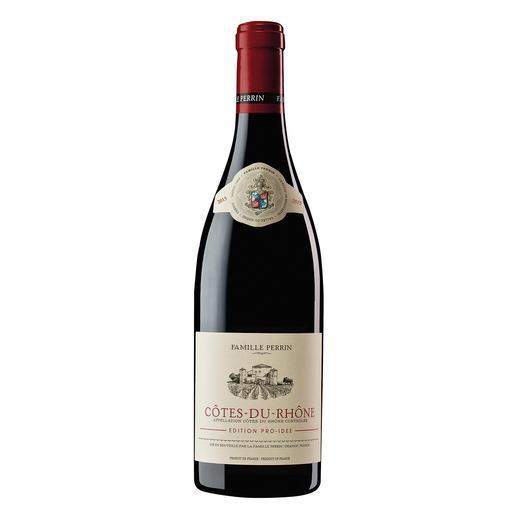 Côtes du Rhône EDITION PRO-IDEE 2015, Perrin, Rhône, Frankreich Er macht Weine mit 100 Parker-Punkten. Und diesen Côtes du Rhône – exklusiv für die EDITION PRO-IDEE.