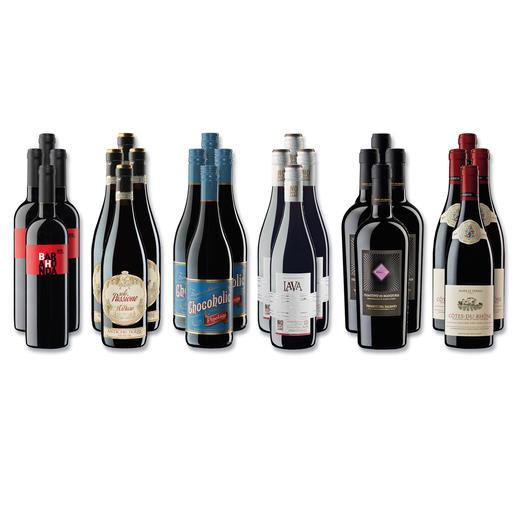 """Weinsammlung """"Die kleine Rotwein-Sammlung Herbst 2017"""", 24 Flaschen Wenn Sie einen kleinen, gut gewählten Weinvorrat anlegen möchten, ist dies jetzt besonders leicht."""