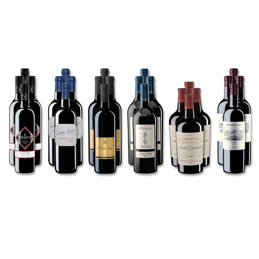 """Weinsammlung """"Die kleine Rotwein-Sammlung für anspruchsvolle Geniesser Herbst 2017"""", 24 Flaschen Wenn Sie einen kleinen, gut gewählten Weinvorrat anlegen möchten, ist dies jetzt besonders leicht."""