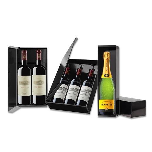 Weine des Pro Idee Weinkellers stilvoll verschenken - im eleganten Lackkarton. Weine des Pro Idee Weinkellers stilvoll verschenken - im eleganten Lackkarton.