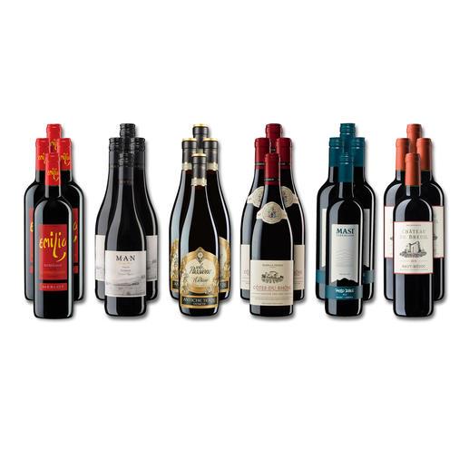 """Weinsammlung """"Die kleine Rotwein-Sammlung Herbst 2018"""", 24 Flaschen Wenn Sie einen kleinen, gut gewählten Weinvorrat anlegen möchten, ist dies jetzt besonders leicht."""