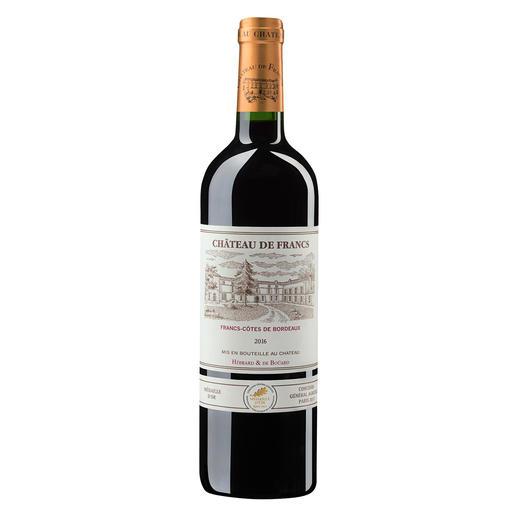 Château de Francs 2016, Francs, Bordeaux, Frankreich Der bezahlbare Bordeaux mit dem Know-how von Château Cheval Blanc.