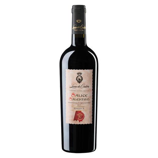 Riserva Castris 2015, Leone de Castris, Salice Salentino, Apulien, Italien - Der beste Rotwein Italiens. Unter 640 (!) Konkurrenten. (Mundus Vini, Sommerverkostung 2016, www.mundusvini.com)