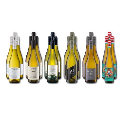 """Weinsammlung """"Die kleine Weisswein-Sammlung Frühjahr 2019"""", 24 Flaschen Wenn Sie einen kleinen, gut gewählten Weinvorrat anlegen möchten, ist dies jetzt besonders leicht."""