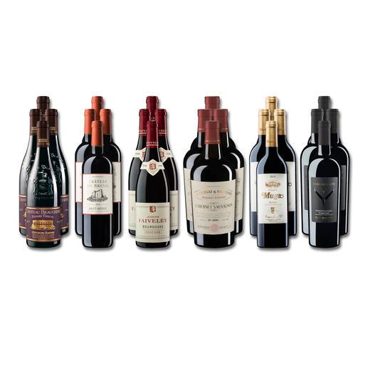 """Weinsammlung """"Die kleine Rotwein-Sammlung für anspruchsvolle Geniesser Frühjahr 2019"""", 24 Flaschen - Wenn Sie einen kleinen, gut gewählten Weinvorrat anlegen möchten, ist dies jetzt besonders leicht."""