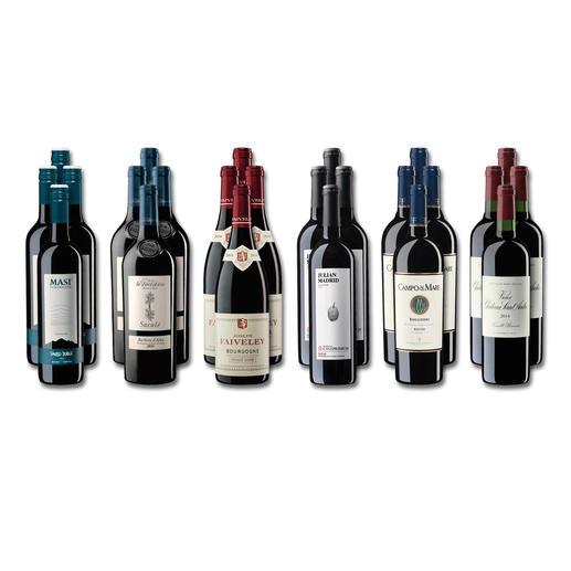 """Weinsammlung """"Die kleine Rotwein-Sammlung für anspruchsvolle Geniesser Frühjahr/Sommer 2019"""", 24 Flaschen Wenn Sie einen kleinen, gut gewählten Weinvorrat anlegen möchten, ist dies jetzt besonders leicht."""