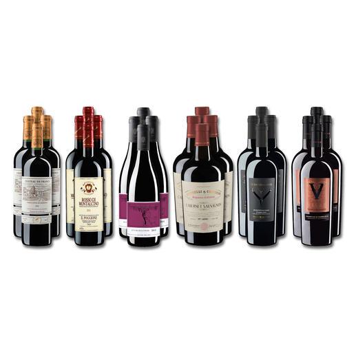 """Weinsammlung """"Die kleine Rotwein-Sammlung für anspruchsvolle Geniesser Sommer 2019"""", 24 Flaschen Wenn Sie einen kleinen, gut gewählten Weinvorrat anlegen möchten, ist dies jetzt besonders leicht."""