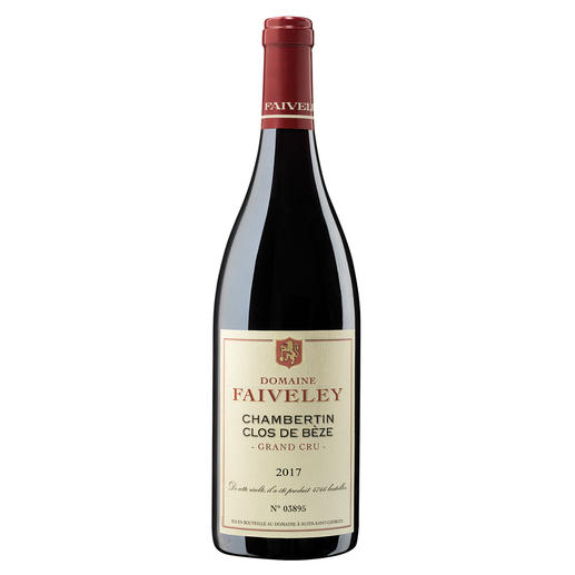 Chambertin Clos de Bèze Grand Cru 2017, Domaine Faiveley, Burgund, Frankreich Le Chambertin. Der Lieblingswein von Kaiser Napoléon.