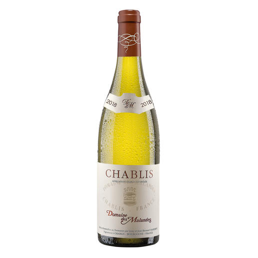 Chablis, Domaine des Malandes, Frankreich Mineralisch und delikat. Die pure Eleganz des Chablis.