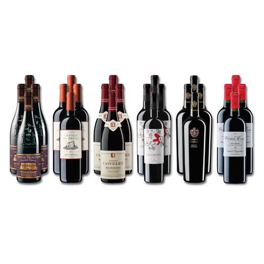 """Weinsammlung """"Die kleine Rotwein-Sammlung für anspruchsvolle Geniesser Herbst 2019"""", 24 Flaschen Wenn Sie einen kleinen, gut gewählten Weinvorrat anlegen möchten, ist dies jetzt besonders leicht."""