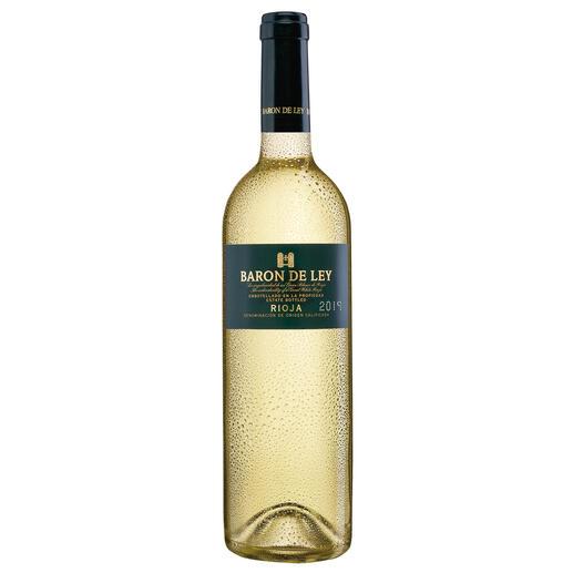 Rioja Blanco 2018, Baron de Ley, Rioja, Spanien Der weisse Rioja: kaum bekannt. Und daher (noch) erfreulich günstig.